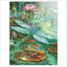 Полностью Алмазная вышитая вода Лотос diy Картина Вышивка крестом