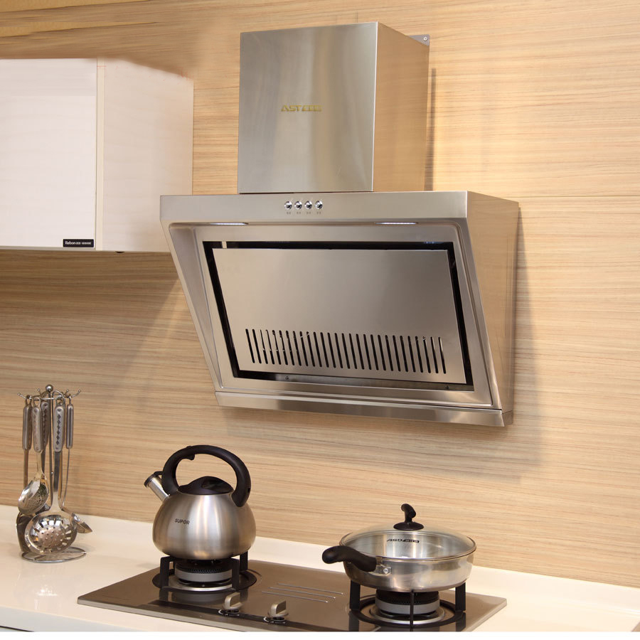 700mm Household Range Hood Ventilator Strong Suction Smoke Exhaust Home Kitchen Hood Stainless Steel  Range Hood CXW-218-T80