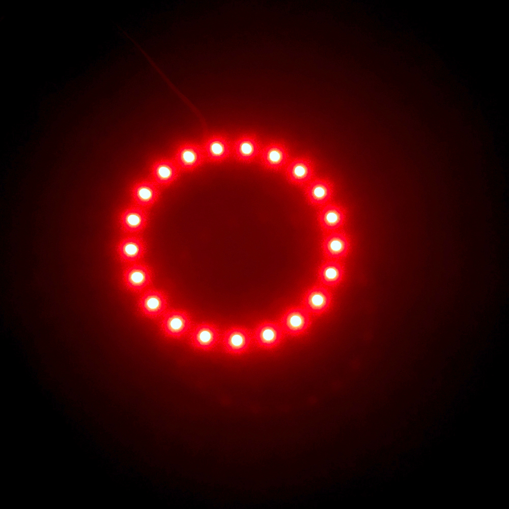 1PCS x White Yellow Blue Green Red 100mm 3528 30 SMD Car Led Angel Eyes Halo Ring Light Car Light 2pcs purple blue red green led demon eyes for bixenon projector lens hella5 q5 2 5inch and 3 0inch headlight angel devil demon