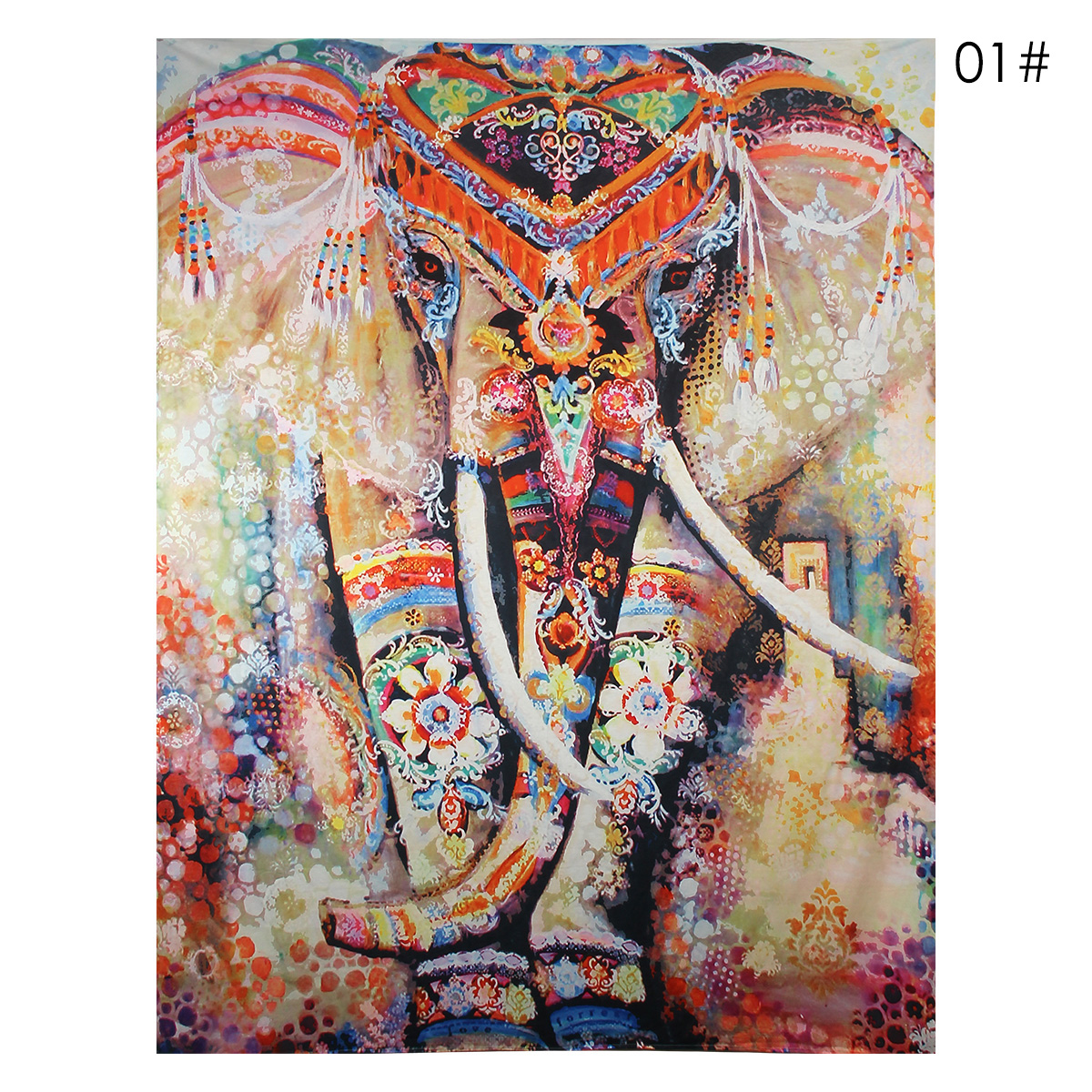 Elephant Mandala Tapestry Throw Towel Hippie Tapestry Floral Printed Home Decor Wall Tapestries Bedspread 210*150CM 5