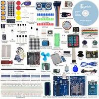 RFID Đầy Đủ Nhất Cảm Biến Starter Kit Đối Với Arduino UNO R3 Starter Kit Nước-Cảm Biến mức Servo/DC/Động Cơ bước RGB LED
