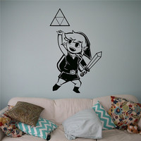 Prinzessin Zelda Wandtattoo Video Spiel Wandsticker Home Interior Wohnzimmer Decor Tür Aufkleber # M120