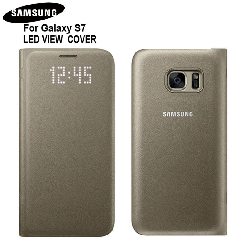 100% Original LED Intelligent Protector LED VIEW COVER for Samsung GALAXY S7 SM-G9300 G930A G9300 Golden Color100% Original LED Intelligent Protector LED VIEW COVER for Samsung GALAXY S7 SM-G9300 G930A G9300 Golden Color