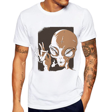 New Arrival Funny Alien Printed Men T Shirt Cotton Short Sleeve Hipster Tops Mens Tshirts Fashion Casual Tee Camiseta de hombre все цены