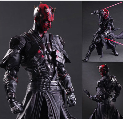 26cm PlayArts KAI Star Wars Darth Maul storm PVC Action Figure Model Toys Gifts Collection Kids Toys Free Shipping free shipping hello kitty toys kitty cat fruit style pvc action figure model toys dolls 12pcs set christmas gifts ktfg010