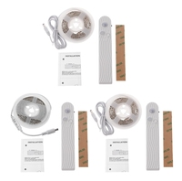 PIR Sensore di Movimento 5 V 45 LED Light Strip Impermeabile 1.5 m w/Battery Box Letto Lampada Timer L15