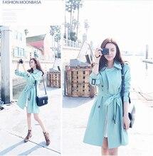2014 Winter Fashion New Korean Temperament Slim Thin In the long section Windbreaker Female jackets Women Free Shipping