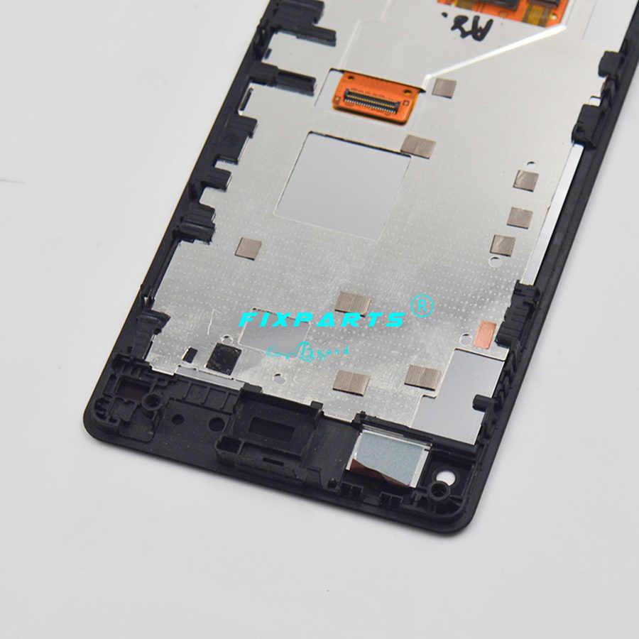 Pour Sony Z1 Compact Mini D5503 M51w z1mini LCD écran tactile numériseur assemblée avec cadre + outils pour Sony Z1 Mini LCD