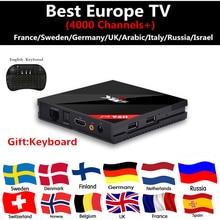 Europe iptv Boîte H96 Pro 3 GB/32 GB S912 Android 7.1 TV BOX HD Smart tv box + 1 Année 4700 + France Italie Arabe Suède ROYAUME-UNI XXX IPTV livraison