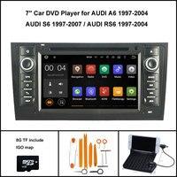 Quad Core Android Leitor Multimédia 7.1 CARRO para AUDI A6 AUDI AUDI S6 RS6 1997-2004 DVD DO GPS DO CARRO 1024X600 WI-FI 16 GB de flash