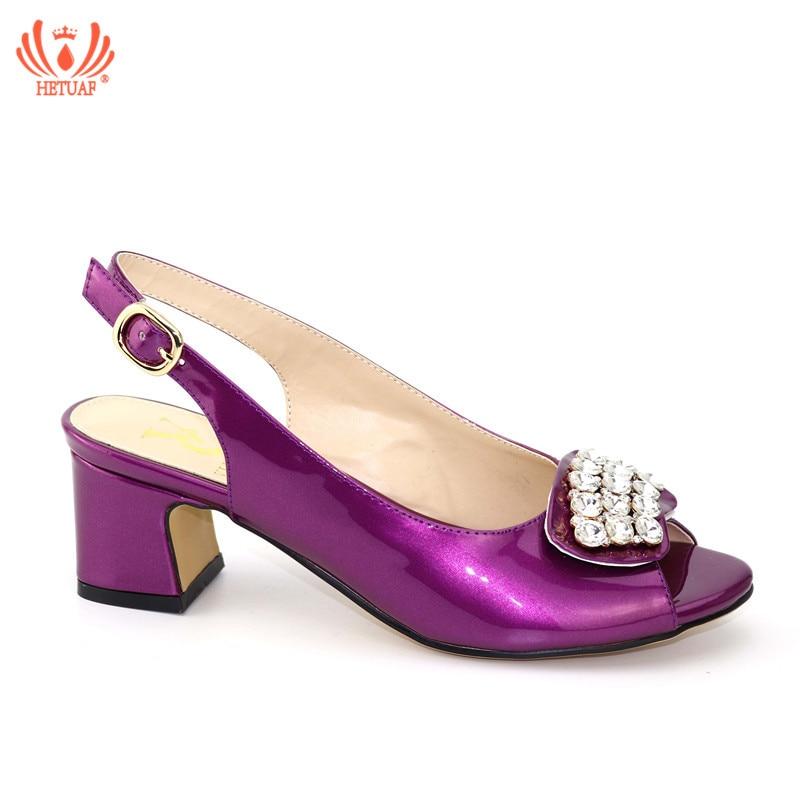 2019 Nouveau Mode Africaine Pompes Chaussures D'été Haute Talons Haute Qualité Africain Sandales Talons Pompes Couleur Pourpre Chaussures De Mariage Africaine