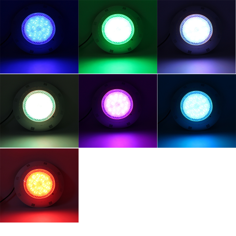 Swimming Pool Astral Underwater Light 24W 36W 72W RGBW Spotlight LED AC12V FB Colored Multicolor with Remote