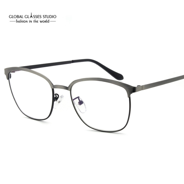 6c2120375f Latest Design Eyebrow Metal Glasses Brushed Color Precious Metal Optical  Frame Business Men Comfortable Spectacle Frame
