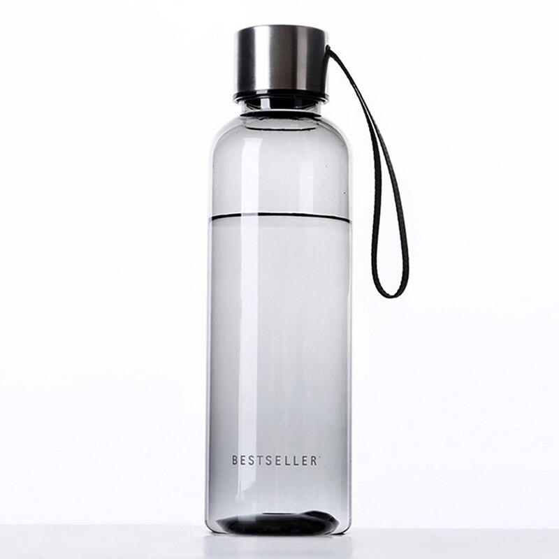 500ml Water Bottle Outdoor Camping Portable sport bottle Travel Fruit juice bottle camping equipment plastic bottle