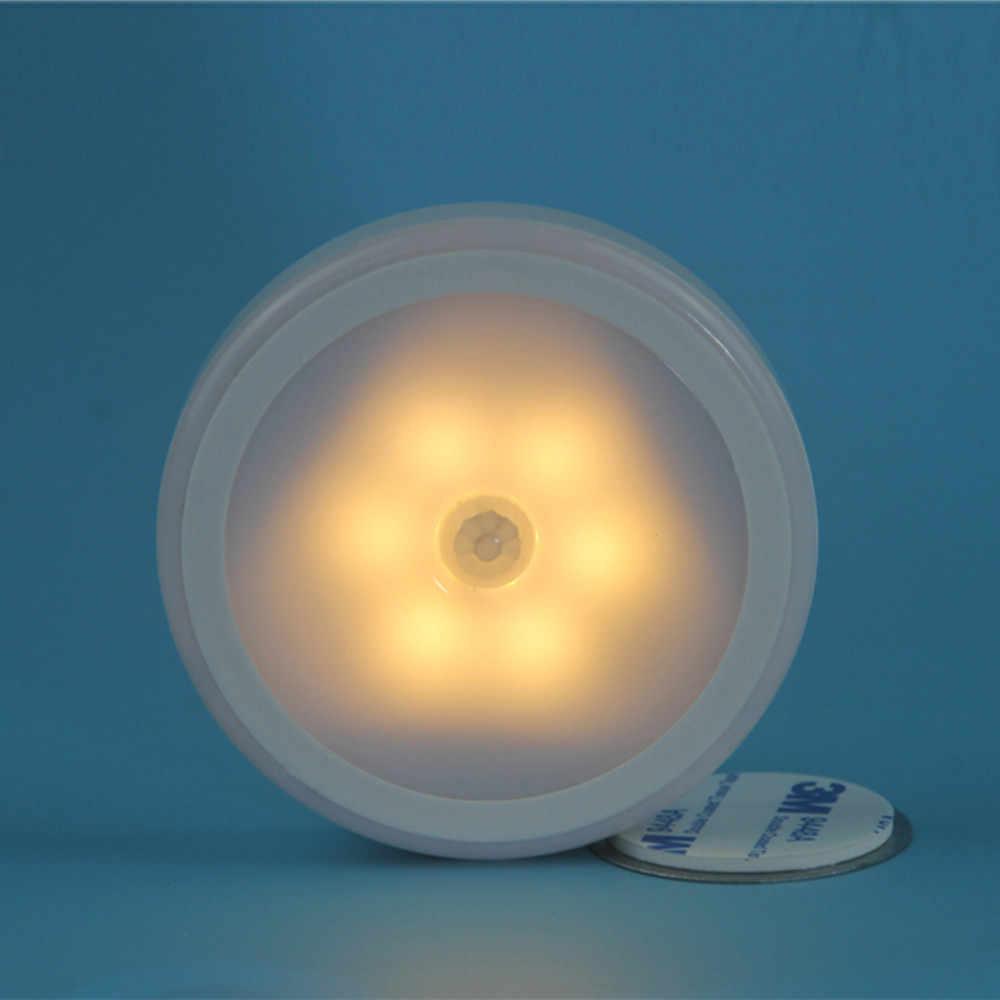 Новый высококачественный 6 светодиодный беспроводной PIR Автоматический Датчик Движения Инфракрасный ночник шкаф лестница лампа Прямая доставка