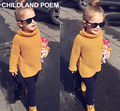 0-5Y warm Children sweater Kids Poloneck Turtleneck Winter spring Pullover Baby Girl Boy Clothes High Neck knitted girls Sweater
