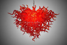Free Shipping Excellent Quality Living Room Lighting Red Glass Chandelier