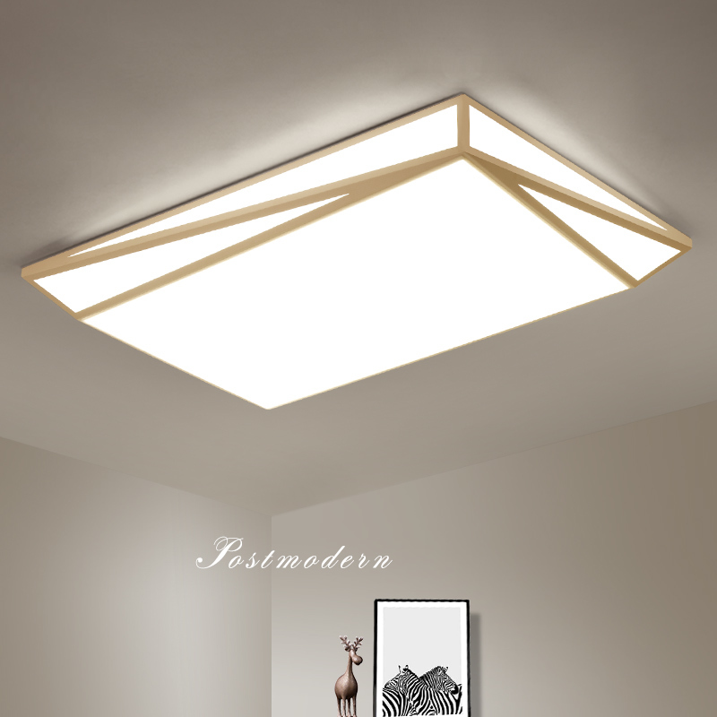 ceiling lights modern LED Simplicity Iron Acrylic black/ white ceiling lamp for living room dining room bedroom lampara techo все цены
