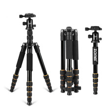 Zomei Q666 Professional Tripod For DSLR Camera Ball Head Tripod Monopod Compact Travel Camera Tripod for Canon Nikon Sony SLR mefoto classic aluminum roadtrip travel tripod monopod kit professional tripod for slr dslr camera