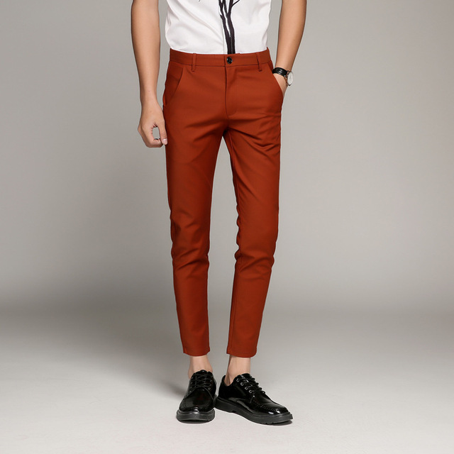 5 Color Slim Soft Stretch Casual Pants  3