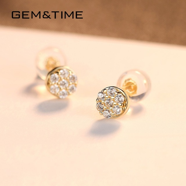 14K Gold Stud Earrings 3