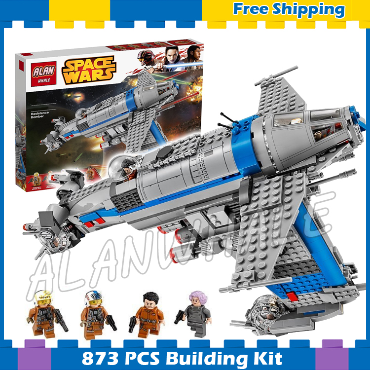 873pcs Space Wars Resistance Bomber Spaceship Set 05129 Model Building Blocks Assemble Boys Set Games Gifts Compatible With Lego