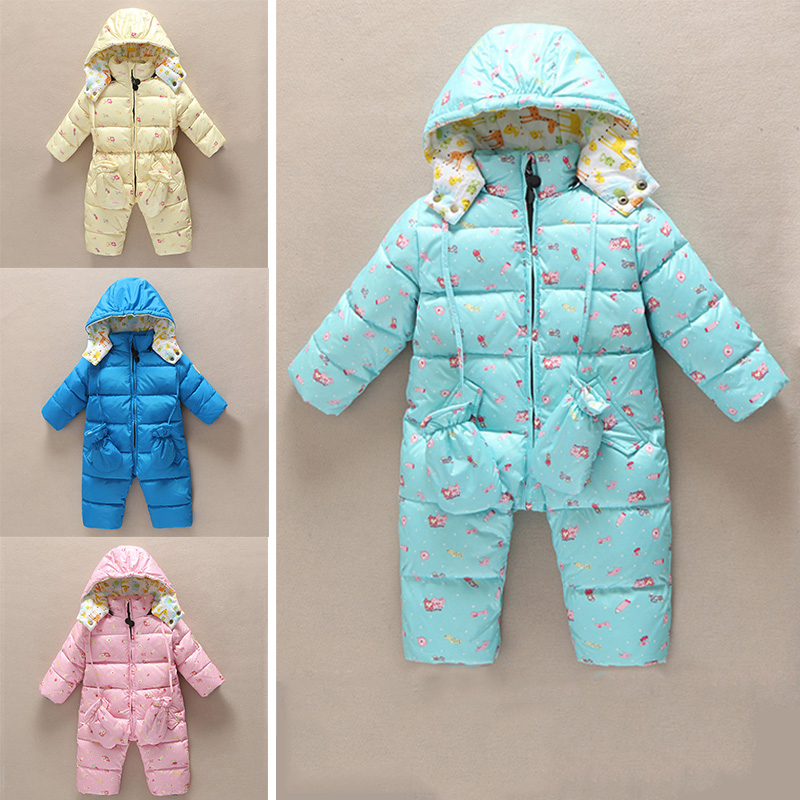 Infant Thick Warm Outwear Down Coat Newborn Girl Hooded Snowsuit Winter Baby Boy Down Jumpsuit Clothing New Baby Clothes 2017 new baby rompers winter thick warm baby girl boy clothing long sleeve hooded jumpsuit kids newborn outwear for 1 3t