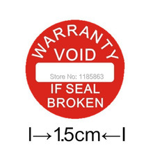 Diameter 15 mm Warranty sealing label sticker void if damaged, Universal with years and months, Free shipping for 500pcs/lot