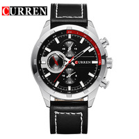 Men Quartz Luxury Watch Man 2017 Water Resistant Leather Wristwatches Fashion Casual Mens Watches Op Brand