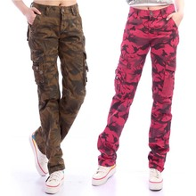camuflaje Pantalones de Multi-Bolsillo