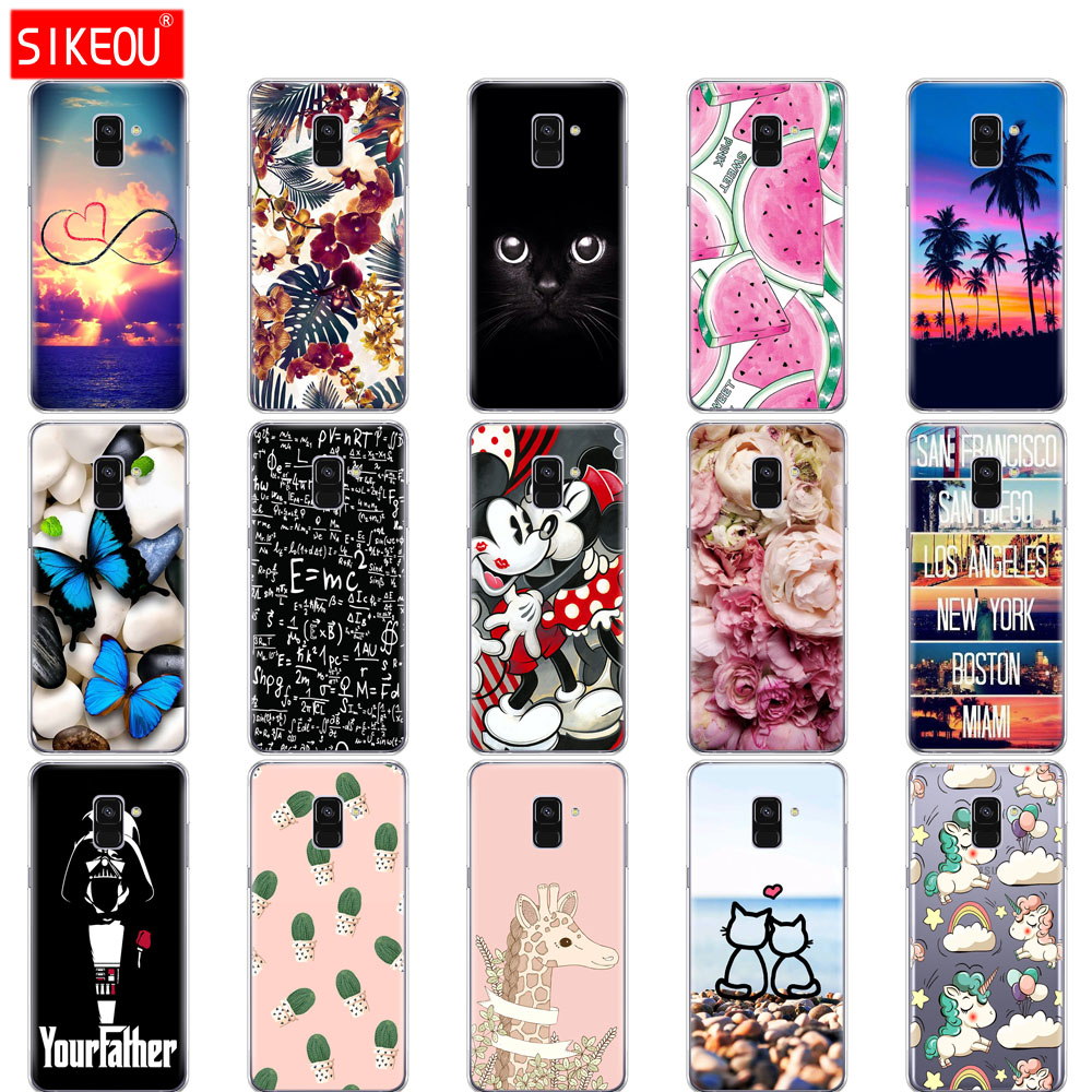 Silicone phone Case For <font><b>Samsung</b></font> Galaxy A8 2018 A530 <font><b>A530F</b></font> cases <font><b>Cover</b></font> For <font><b>Samsung</b></font> A8 Plus 2018 A730 A730F Clear Case butterfly image