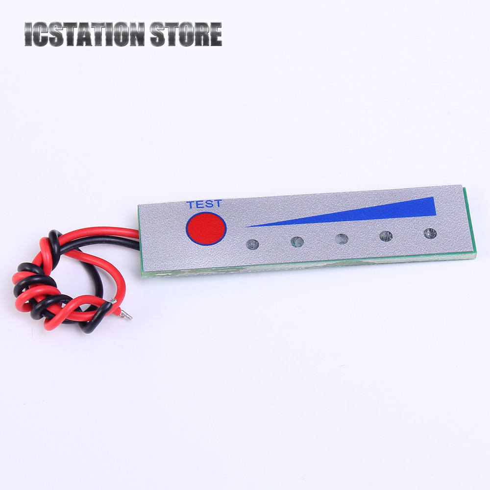 Waterproof 12V Lead Acid Battery Capacity Indicator Electricity Power LED Lamp Display Board Meter Tester battery capacity tester resistance testing mobile power lithium lead acid battery can be 18650 serial line 20w