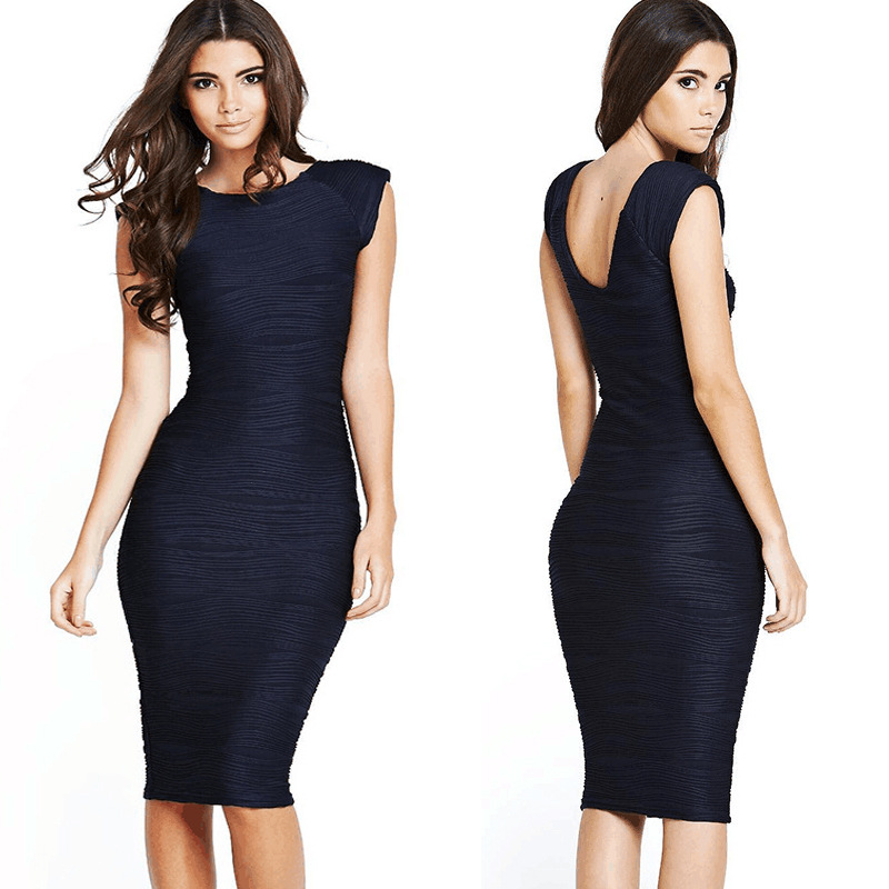 76a53d28dea5c Oxiuly Womens Summer Elegant Vintage Pinup Retro Rockabilly Sexy Deep V  Back Ruched Party Bodycon Sheath Wiggle Pencil Dress