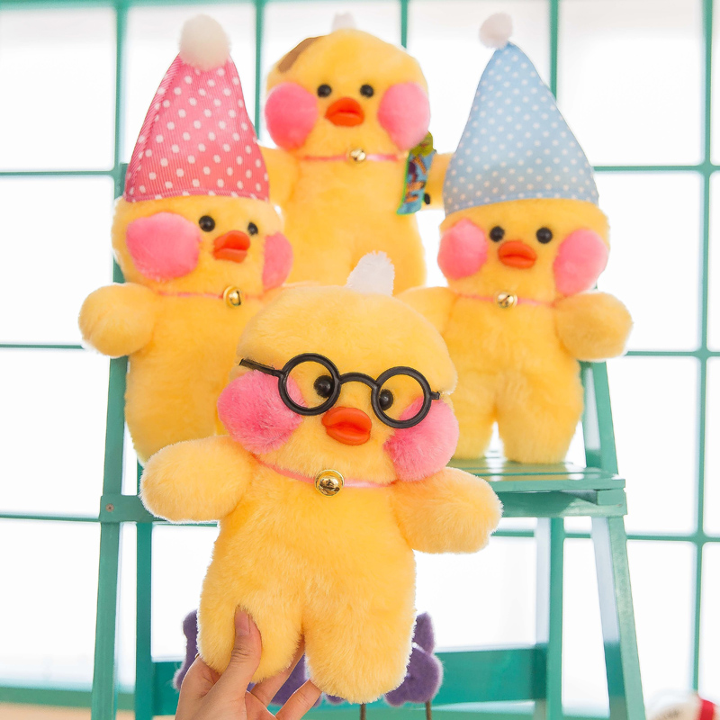 купить 27cm Simulation Plush Yellow Duck  Toy Lovely Children'presents Stuffed Animals Dolls Cute Gift Toy Sleeping Appease Doll по цене 287.18 рублей