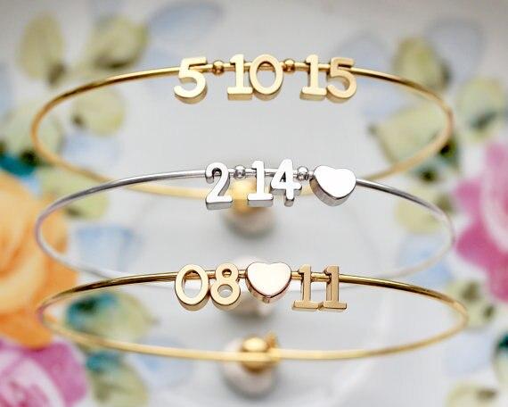 c1177519ec2a Nuevo diseño brazaletes personalizados nombre personalizado oro y plata Pulsera  personalizada cualquier letra inicial nombre pulsera