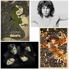 Vintage Poster home decor The Doors Jim Morrison Kraft rock Poster retro poster rock band music star poster wall pictures(China)