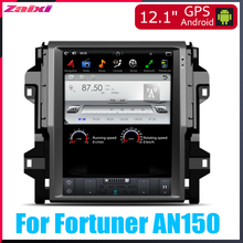 ZaiXi 12.1 Vertical screen android car multimedia video radio player in dash for Toyota Fortuner AN150 2016~2017 car navigaton