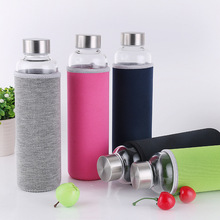 Transparent Water Bottles with Colorful Holding Sleeves