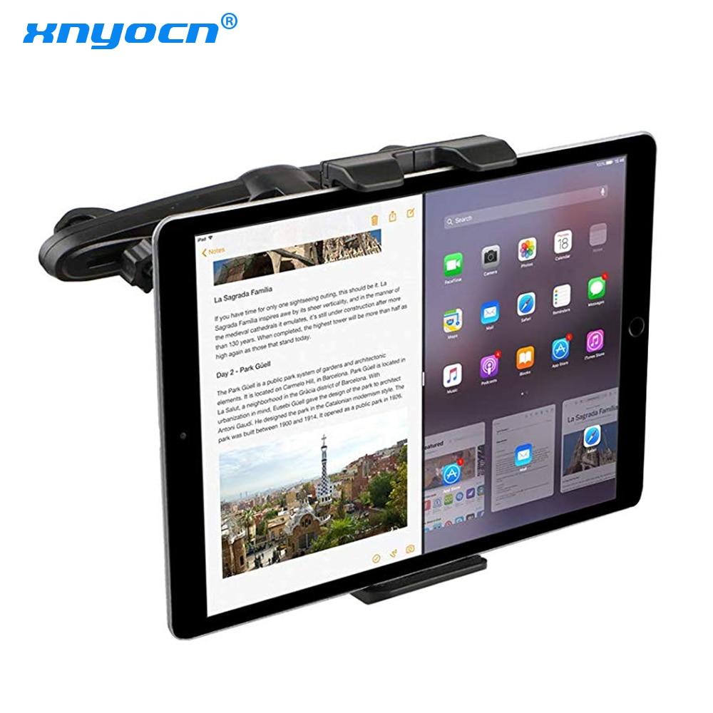 New 7 8 9 10 Inch Tablet Car Holder Back Seat Pillow Car Mount Cradle Soporte Tablet Desktop For IPad Stand Up For Samsung Tab