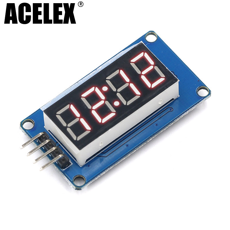 TM1637 4 Bits Digital LED Display Module For arduino 7 Segment 0.36Inch Clock RED Anode Tube Four Serial Driver Board PackTM1637 4 Bits Digital LED Display Module For arduino 7 Segment 0.36Inch Clock RED Anode Tube Four Serial Driver Board Pack