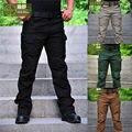 Свободного покроя мужчины брюки брюки-карго брюки тактические нескольких карманный военный в целом для мужчин на открытом воздухе длинные брюки Большой размер