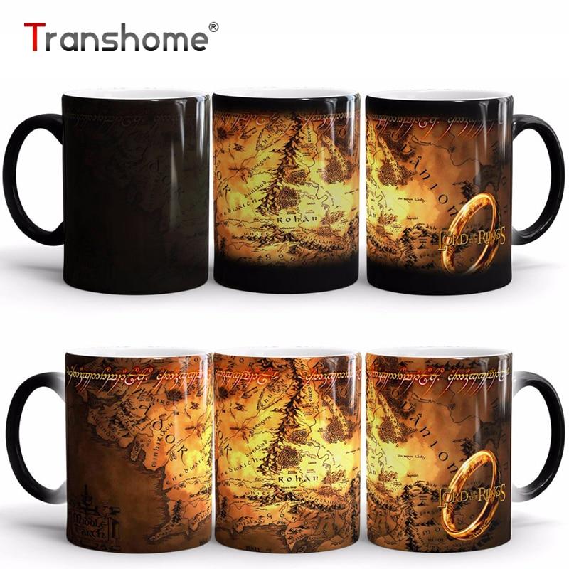 Transhome Coffee Mug The Lord Of Rings Ceramic Heat Sensitive Color Changing Mug Magic Cups And Mugs For Gift Free Shipping