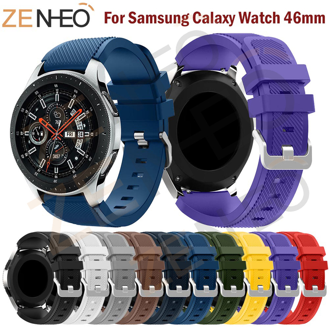 For Huami Amazfit Stratos 2/2S silicone Strap for Samsung Galaxy Watch 46mm watc