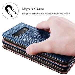 Image 1 - De luxe En Cuir Véritable étui pour samsung Galaxy S10 Plus Note 9 8 Étui w/Support porte carte Souple Boîtier Intérieur Protection Complète