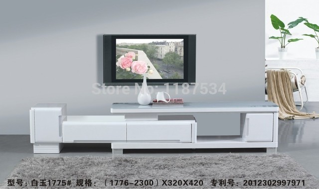 1775 Modern Living Room Furniture Black And White Wood Gl King Size Stretch Tv