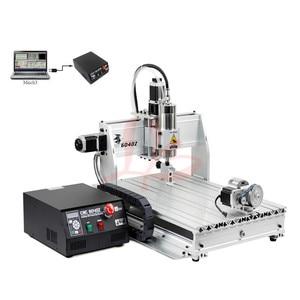 Image 3 - Máquina de perfuração de gravura do cnc do metal 6040z usb mach3 roteador madeira com 1.5kw vfd eixo e cortador pinça braçadeira vise perfuração