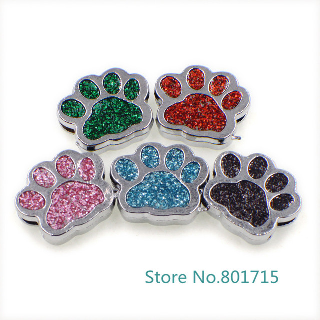 New Style 10pcs SL505 Internal Dia. 8mm dog paw slide Charms Jewelry  Finding fit 8mm da7286cf8390
