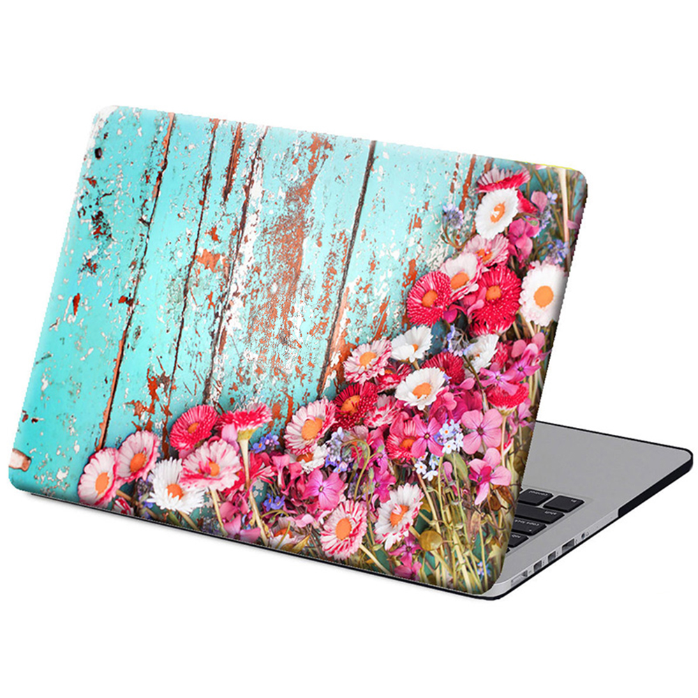 DallowayCabin High Quality Premium Plastic Blue Wood Flowers Pattern Cover Case for MacBook Air 11/13 Pro/Retina 11/13