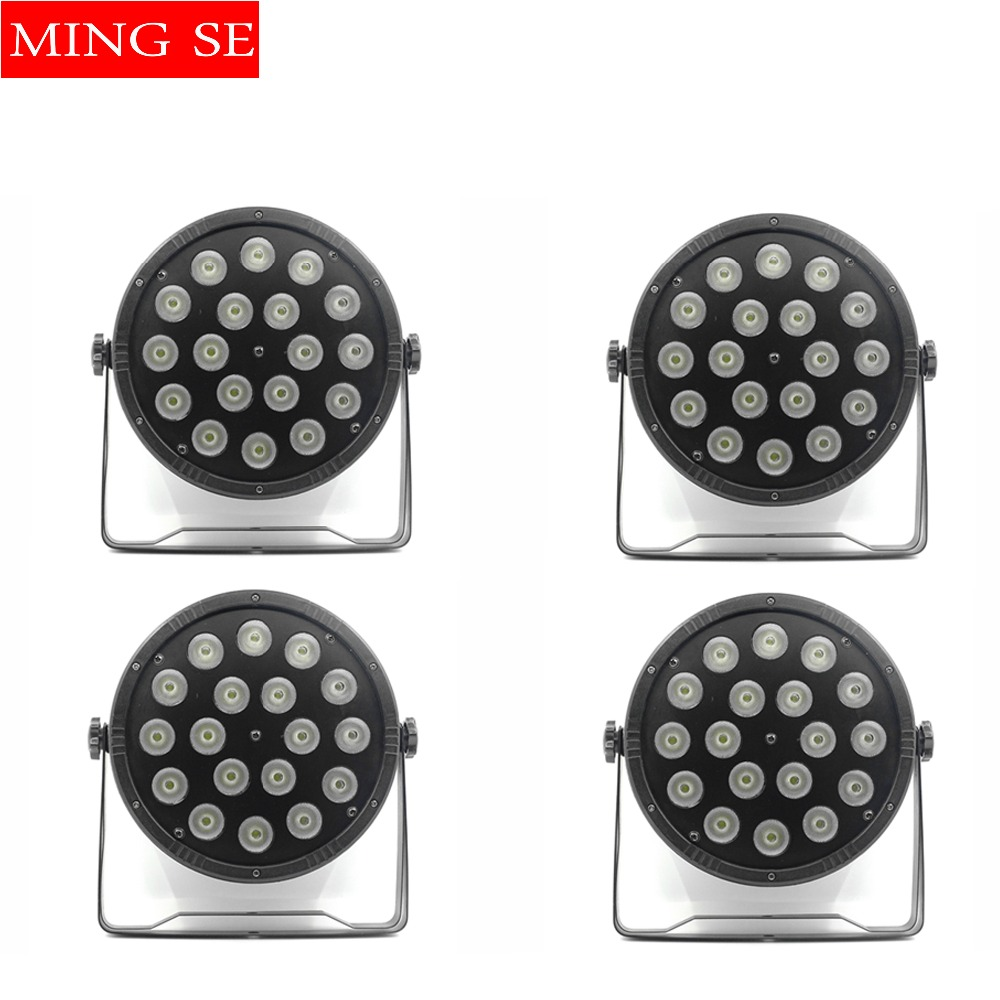 4pcs/lots 18x10W Flat LED Par Lights, 18*10w RGBW 4IN1 PAR DMX512 control disco lights professional stage DJ equipment free shipping 9x10w 30w flat led par lights 9 10w 30w rgbw 3in1 par dmx512 control disco lights professional stage dj equipment