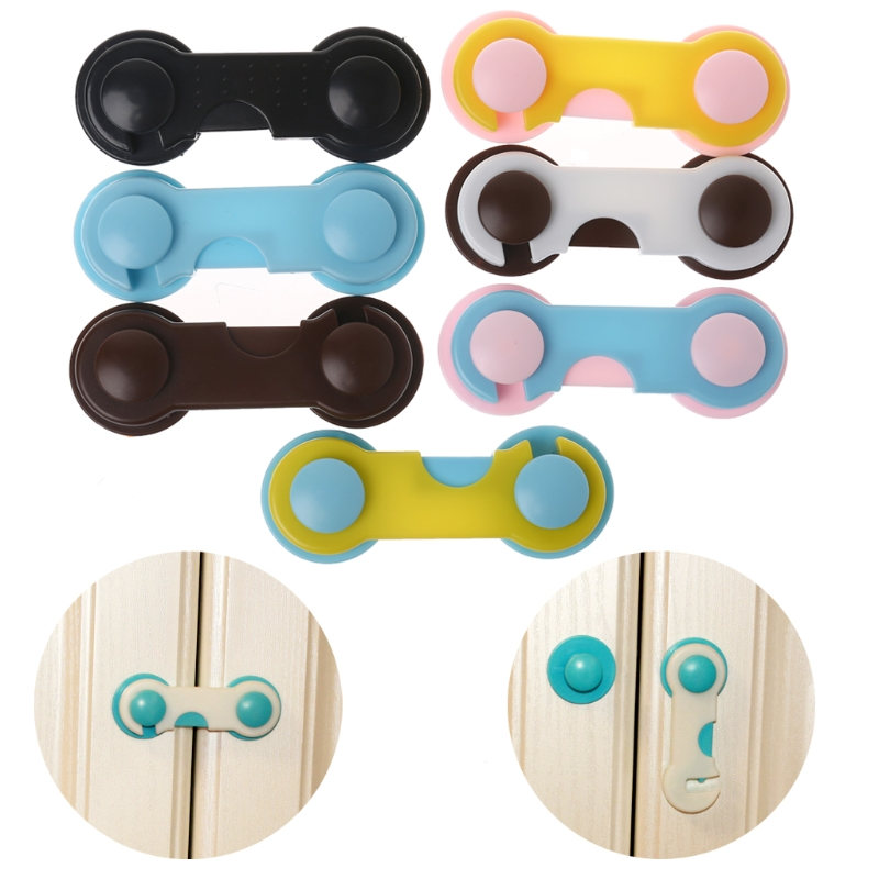 4Pcs/Set Doors Drawers Wardrobe Toddler Baby Children Protection Safety Plastic Lock Colorful Kids Security Products Baby Locks